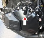 GSG CRASH PADS: Speed Triple 1050 - Tiger 1050 Engine Case Left Side (With Groove) 122-110-40-T155